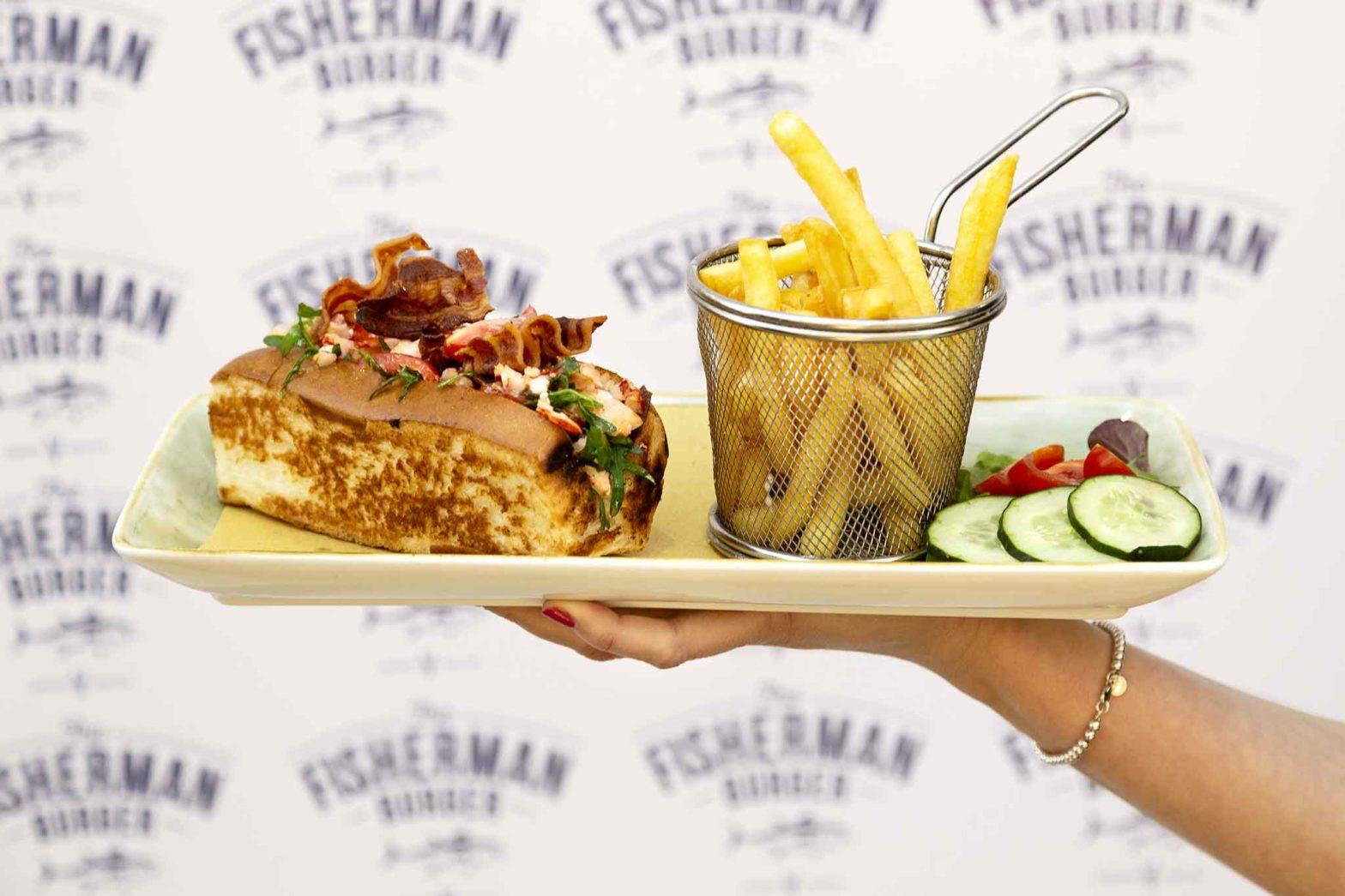 The Fisherman Burger ristorante pescheria Roma lobster roll