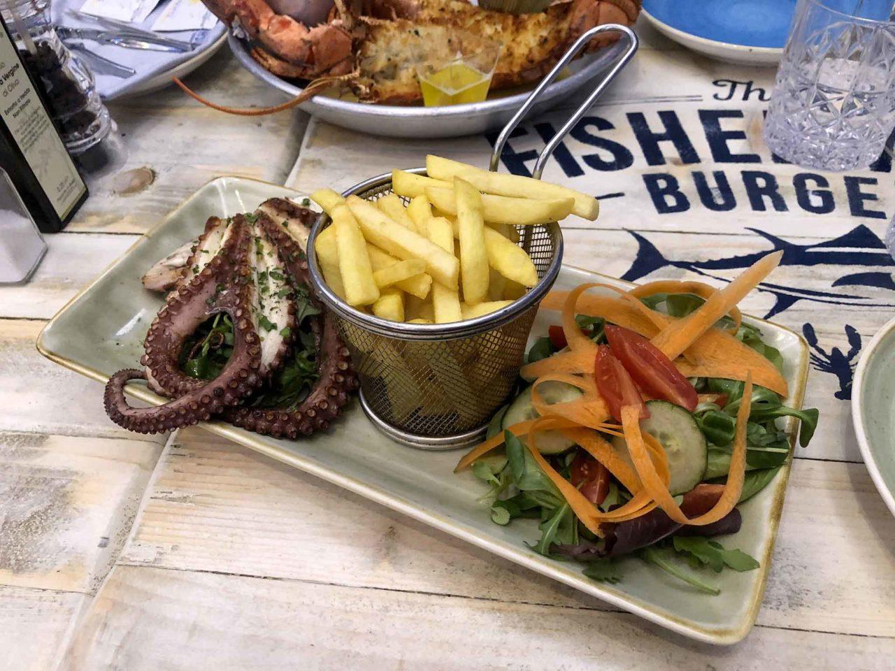 polpo arrosto The Fisherman Burger ristorante pescheria Roma