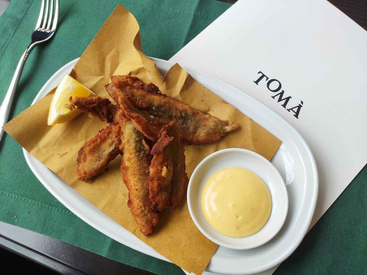 alici fritte Tomà ristorante Roma Prati