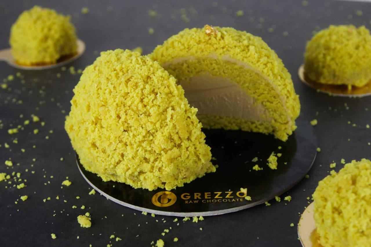 grezzo Mimosa torta crudista 8 marzo