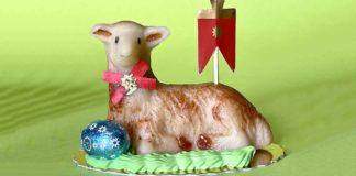 pecorella pasquale di marzapane