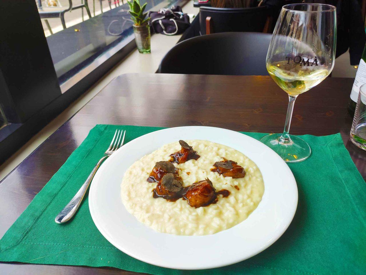 risotto animelle Tomà ristorante Roma Prati