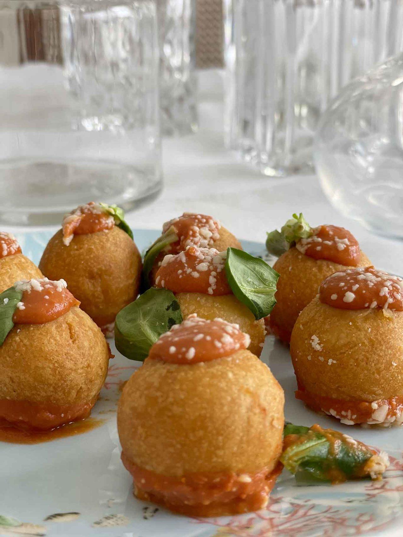 ristorante Il Gozzo Salerno sfere di parmigiano