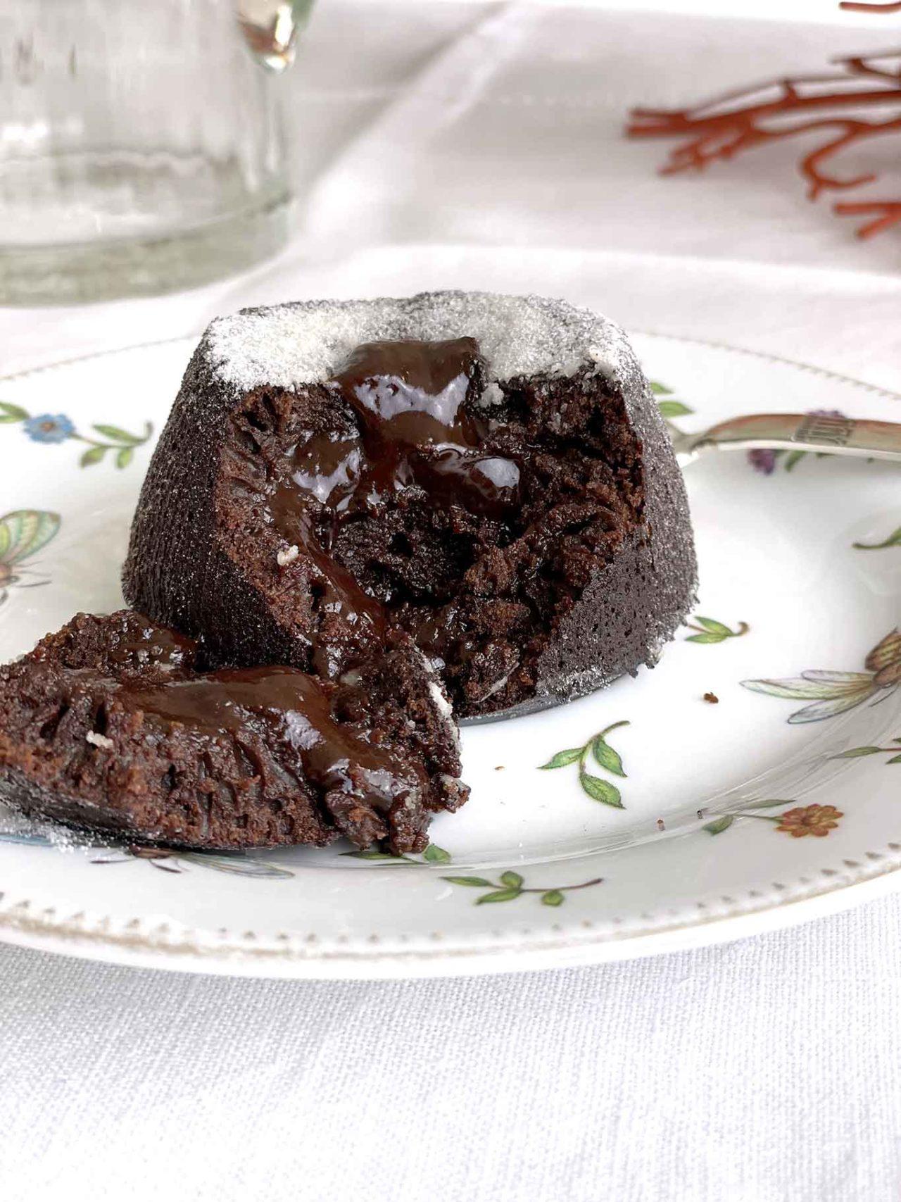 tortino al cioccolato ristorante Il Gozzo Salerno