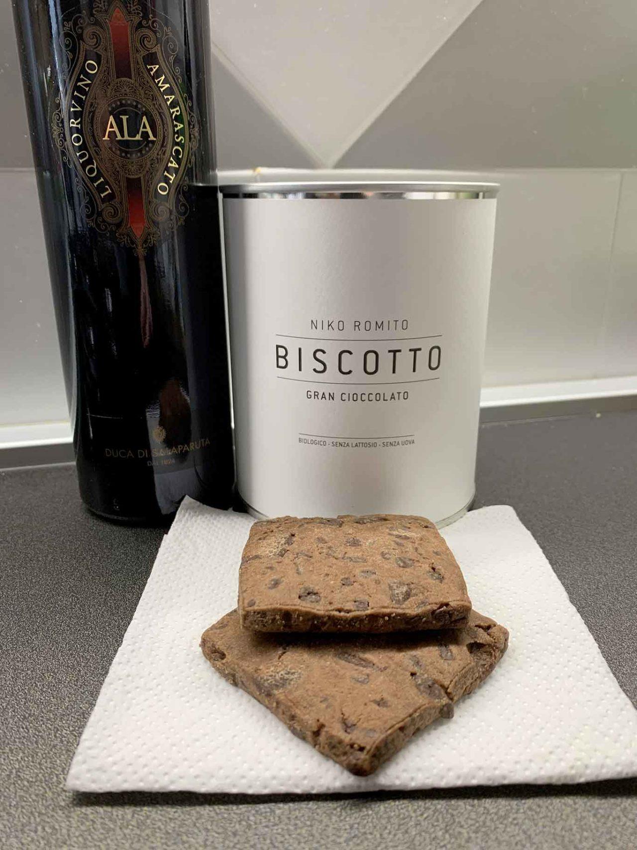 biscotto cioccolato e vino