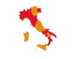 italia arancione e rossa fino al 30 aprile 2021