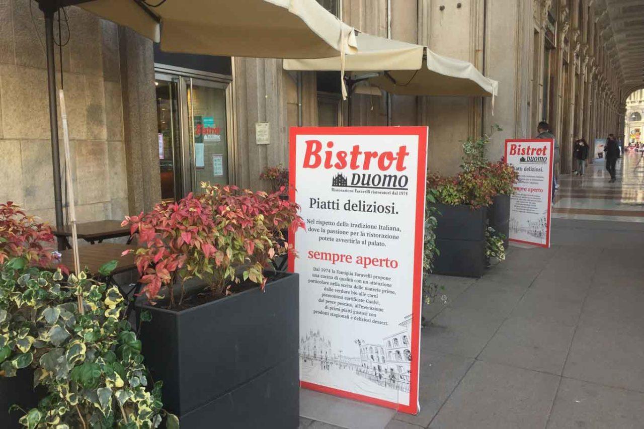 nuove aperture a Milano: bistrot duomo faravelli esterno
