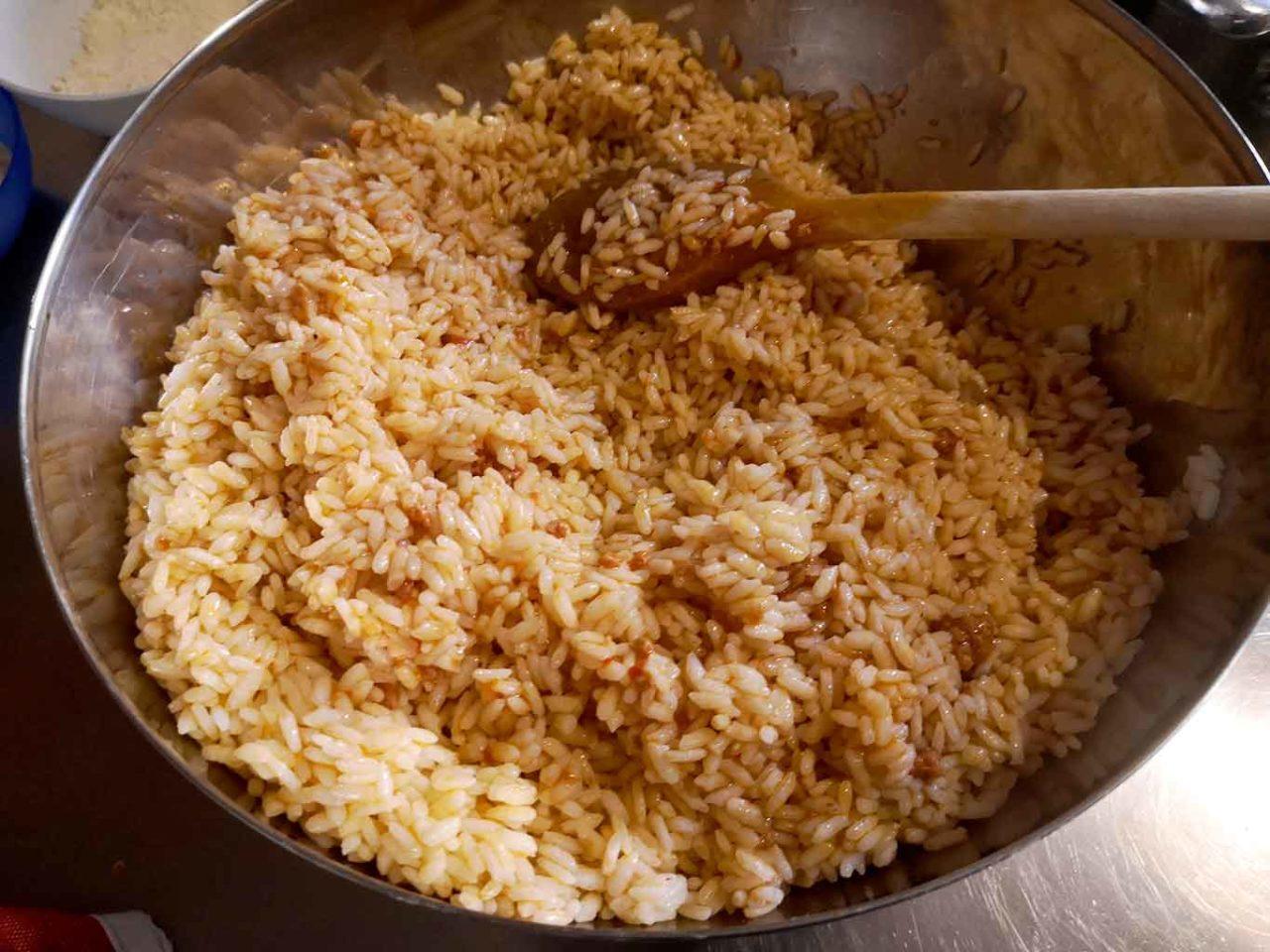 bomba di riso preparazione