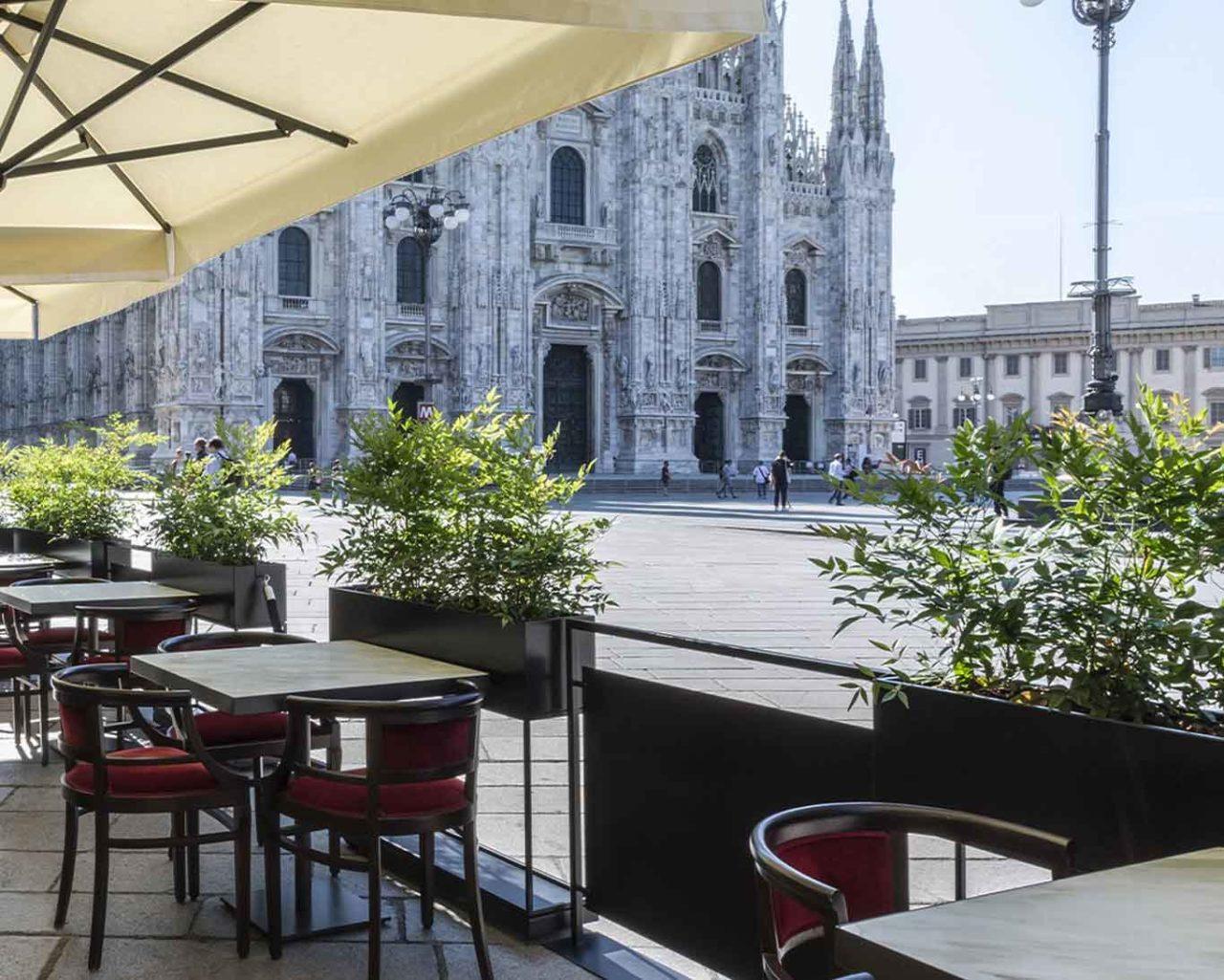 camparino ib galleria dehors duomo ristoranti all'aperto