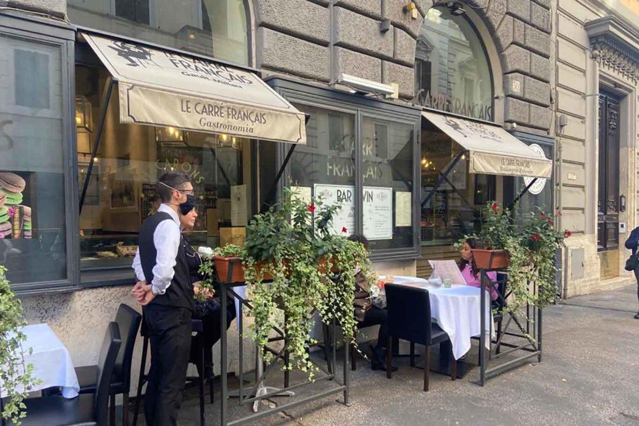 Ristoranti di Roma all'aperto: Le Carré Français