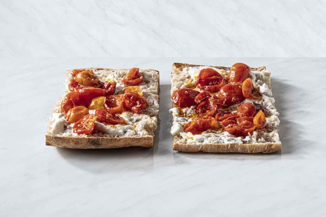 crosta bellotti pizza pala stracciatella pomodorini