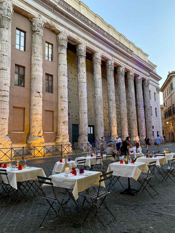 dehors tavoli aperto osteria Ingegno Roma riaperture a maggio