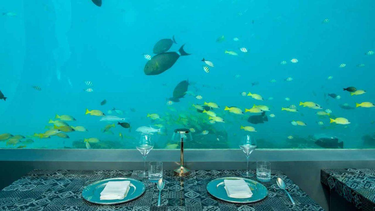 h2o ristorante subacqueo maldive