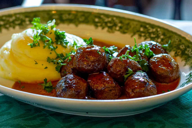ristorante kometen Goteborg polpette lingon