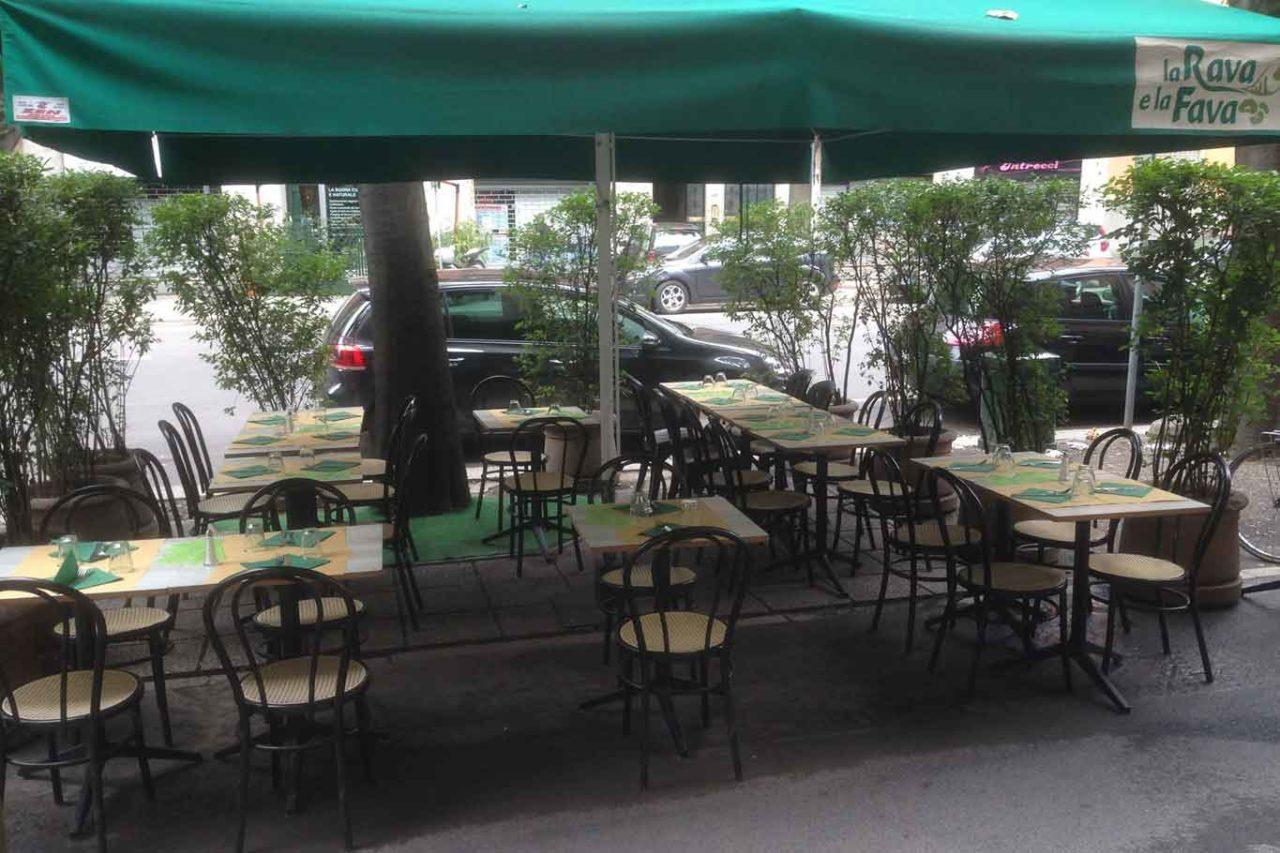 la rava e la fava milano dehors ristoranti all'aperto