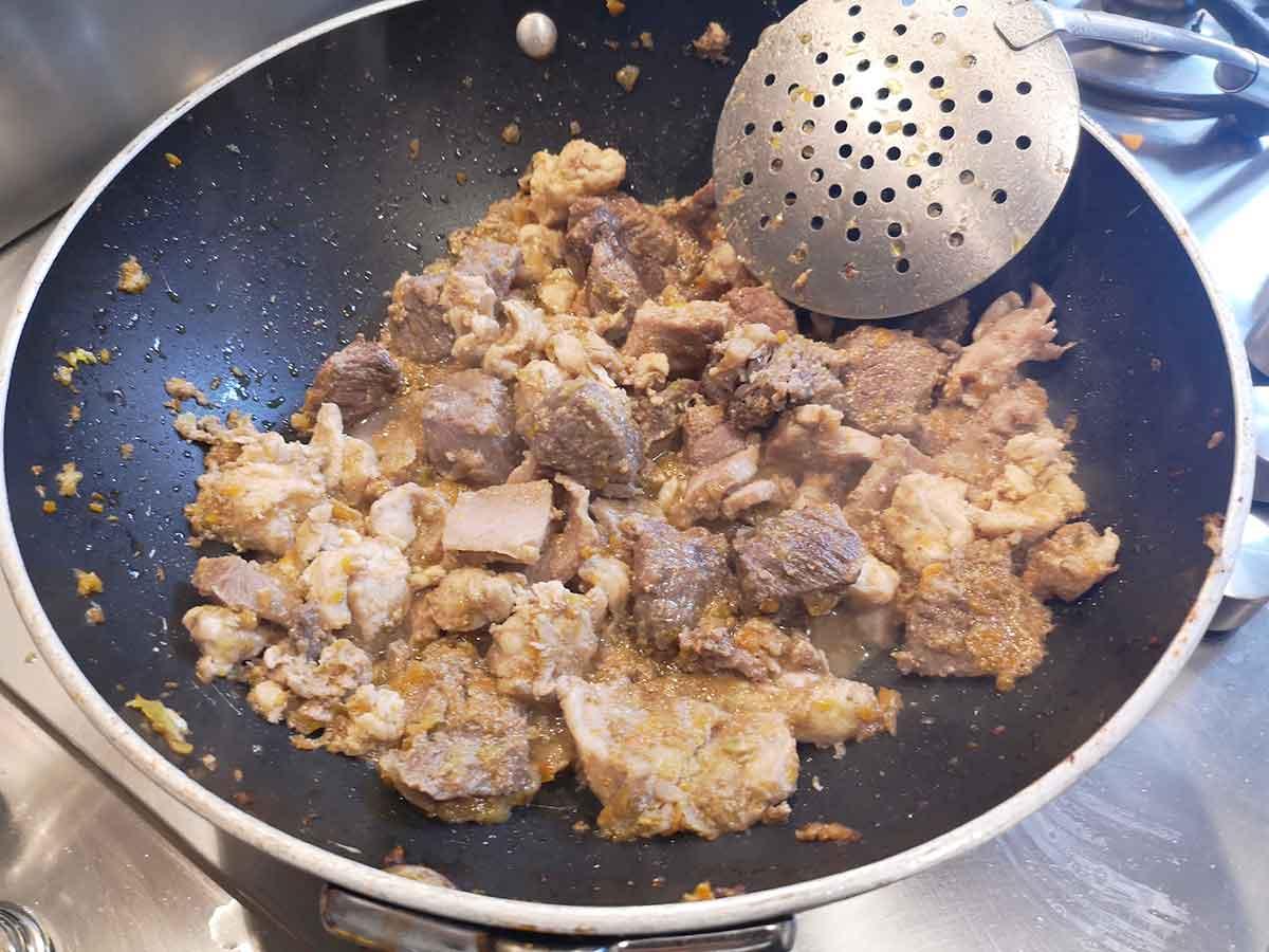 carne in padella