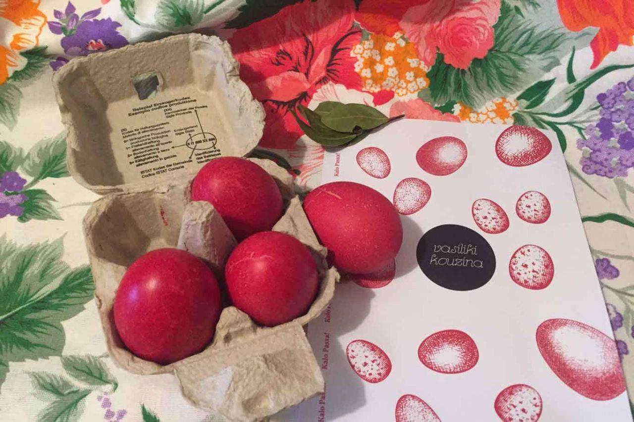 pasqua ortodossa uova rosse vasiliki kouzina