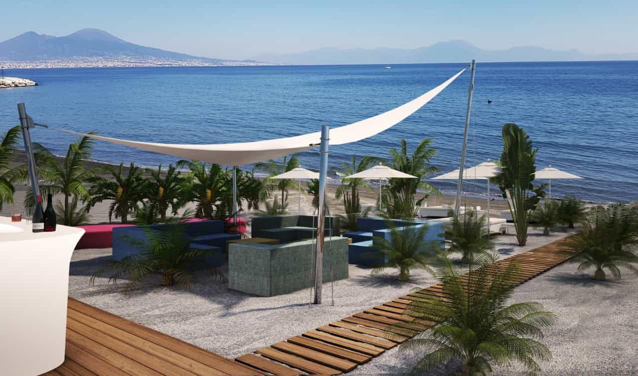 spiaggia Palazzo Petrucci vista Golfo