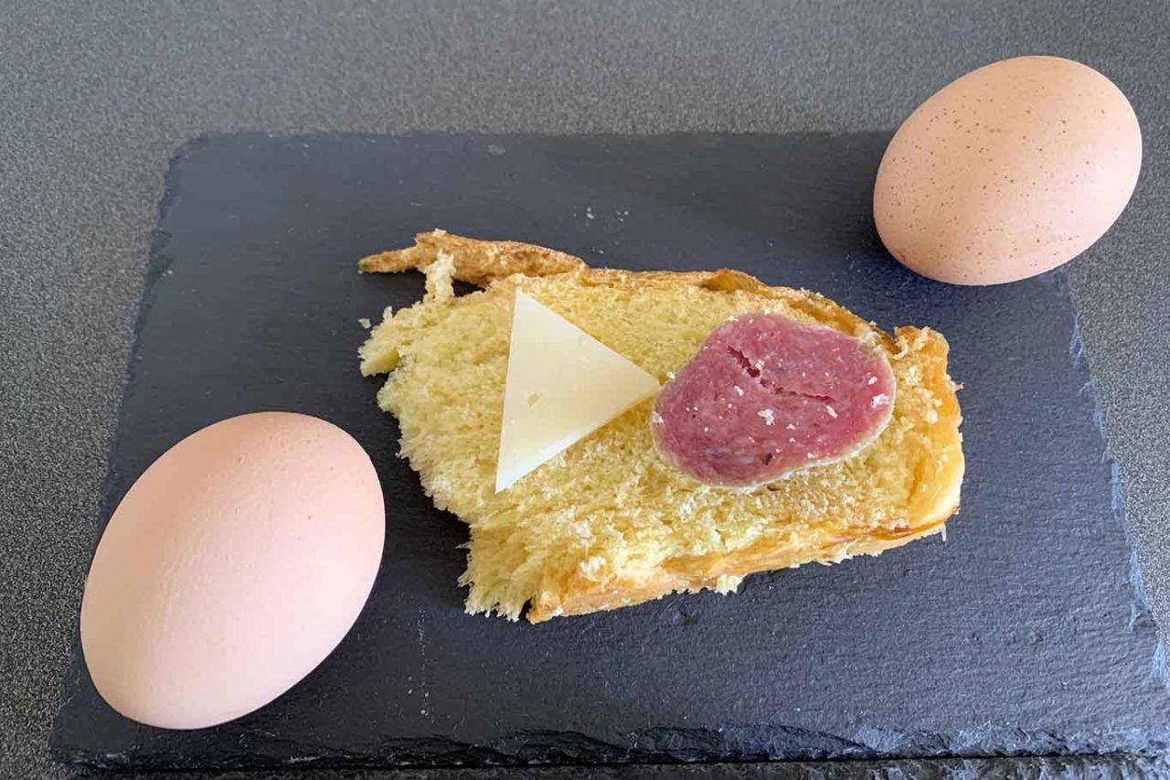 uova per la colazione di pasqua