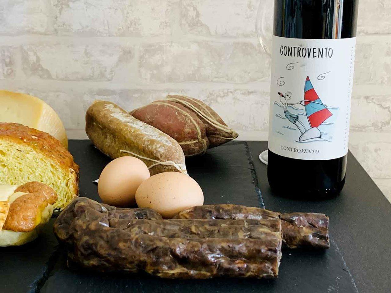 colazione di pasqua con il vino