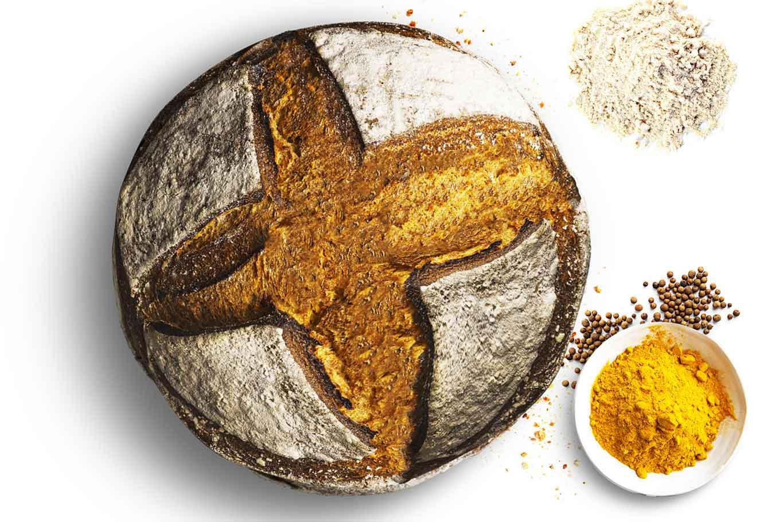 Busket pane grano margherito curcuma