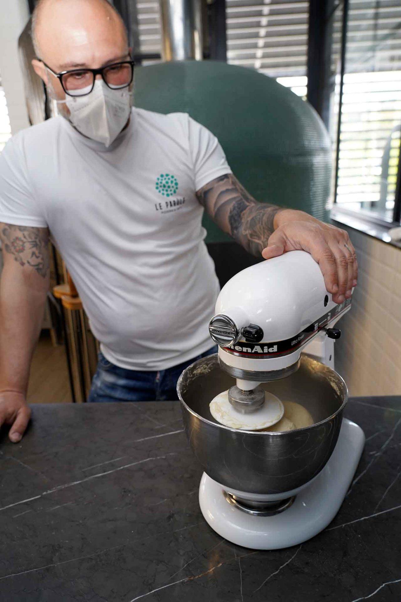 Giuseppe Pignalosa pane con farina di ceci