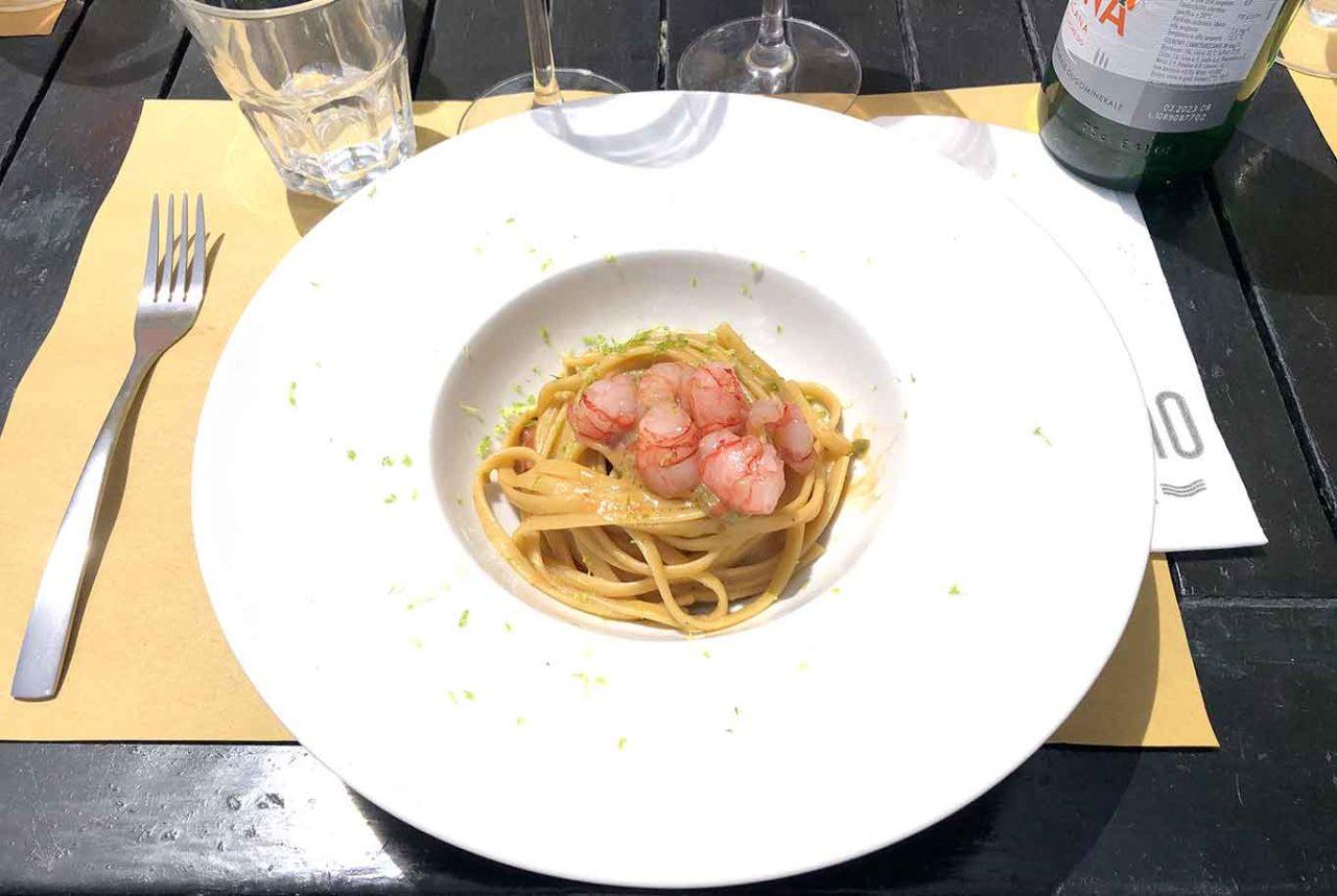 il Capanno Ostia Roma spaghetti e gamberi
