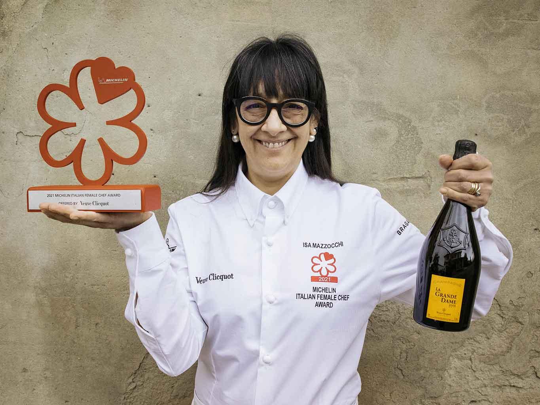 Isa Mazzocchi chef stella Michelin Donna Chef 2021 champagne Veuve Clicquot