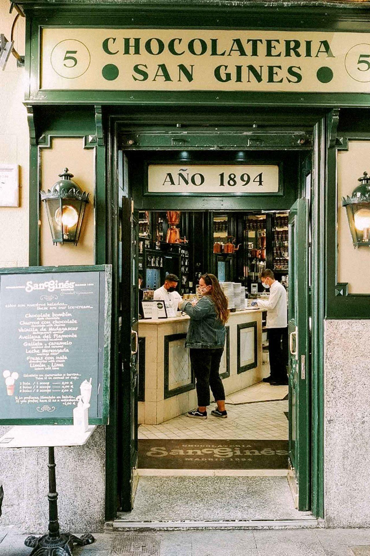 Madrid Chocolatería San Gines