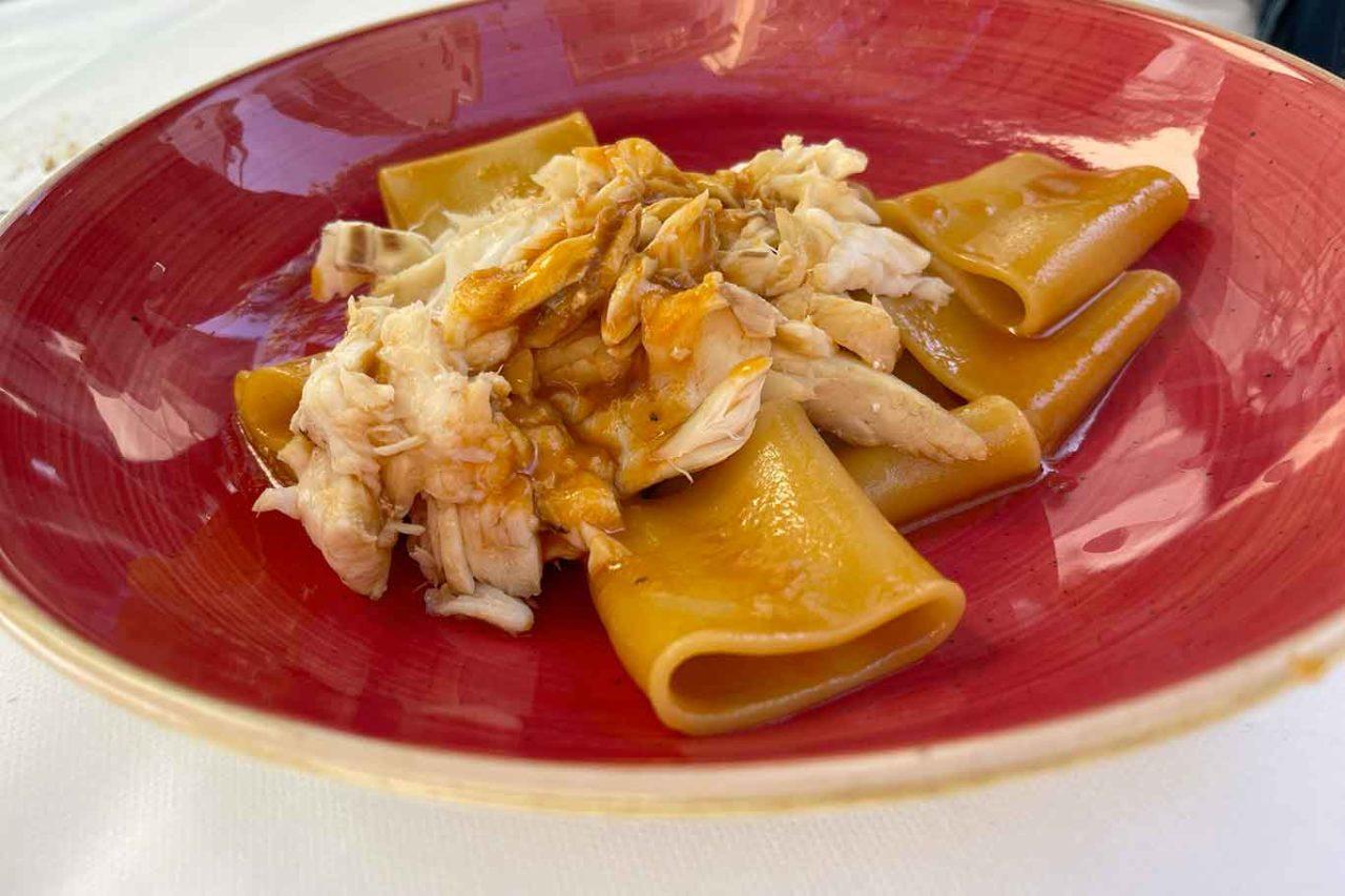 Osteria di Pescheria Salerno paccheri con cernia