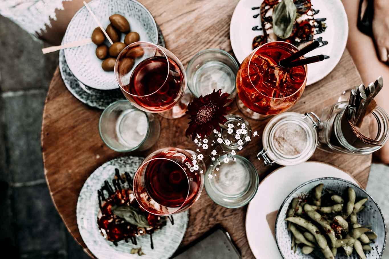 aperitivo all'aperto