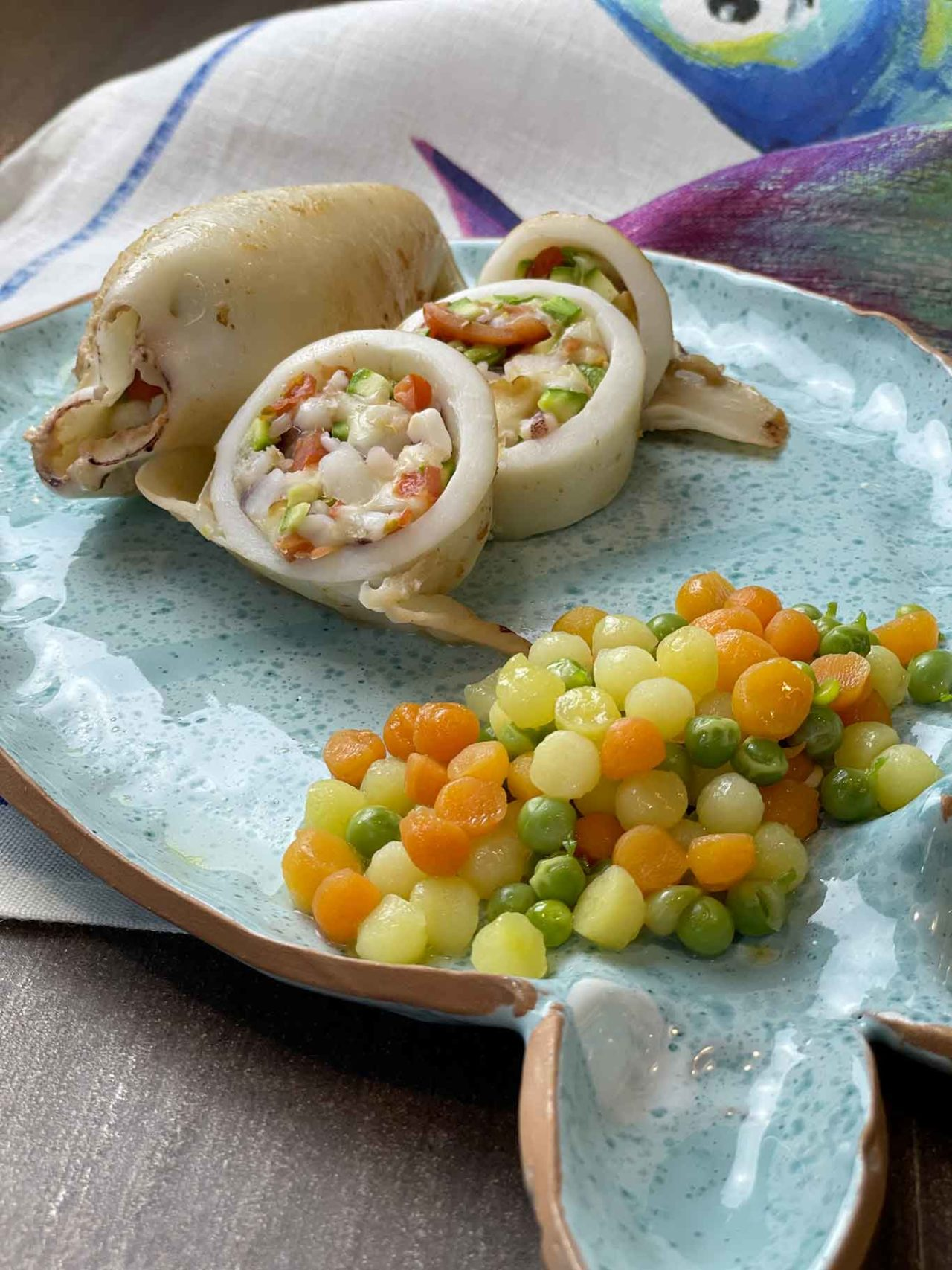 calamari ripieni zucchine