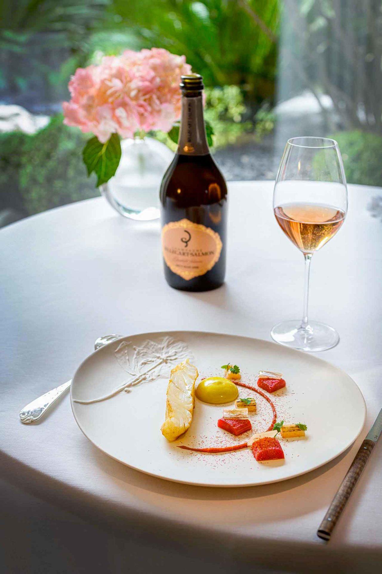 champagne Billecart-Salmon Elisabeth Salmon Brut Rosé 2008 piatto