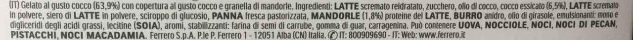 ferrero raffaello ingredienti