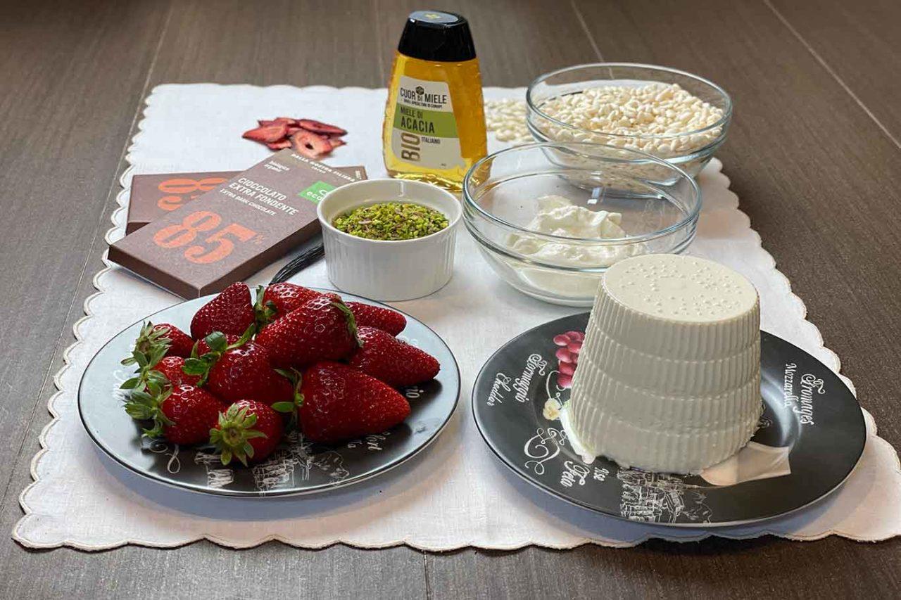 riso soffiato e cioccolato cestini ingredienti