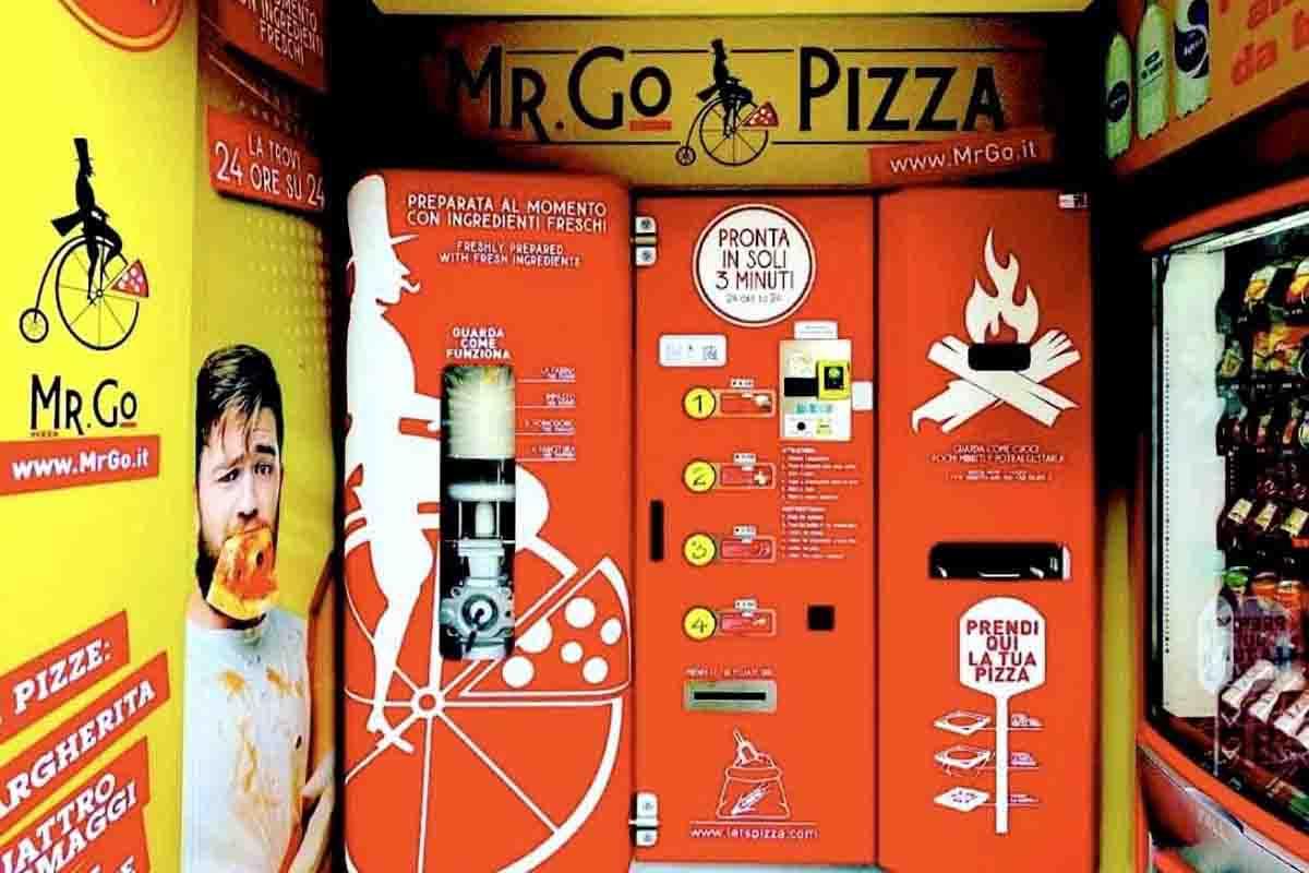 Distributore automatico pizza Roma mr go