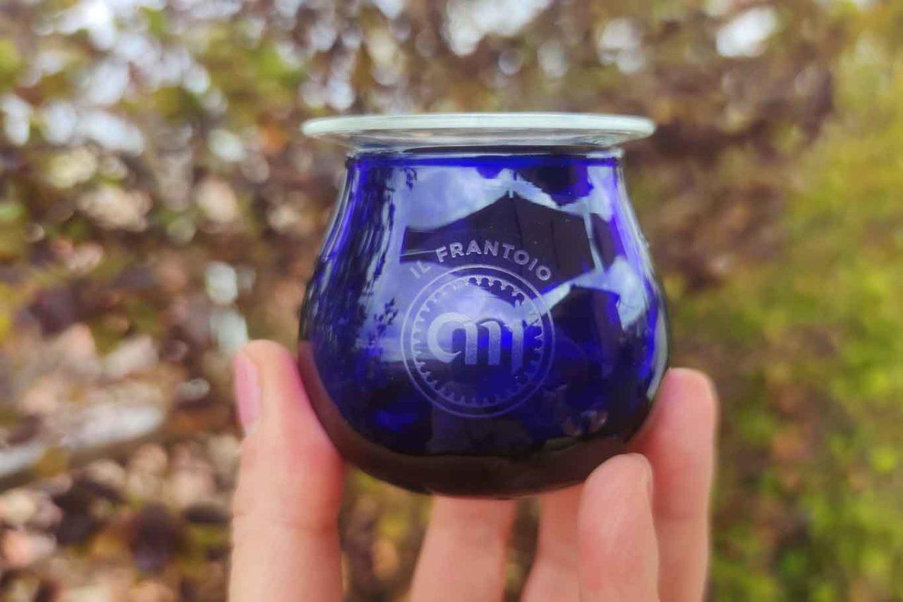bicchierino degustazione olio extravergine di oliva Centumbrie