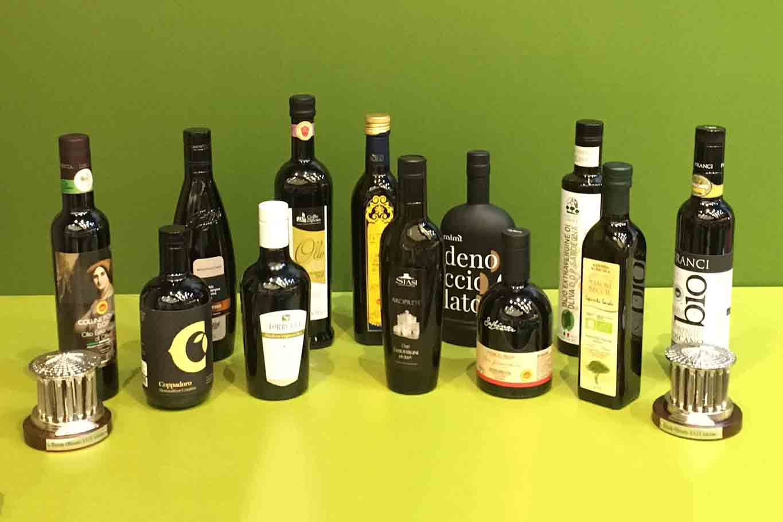 olioextravergine di oliva premio Ercole Olivario 2021 bottiglie