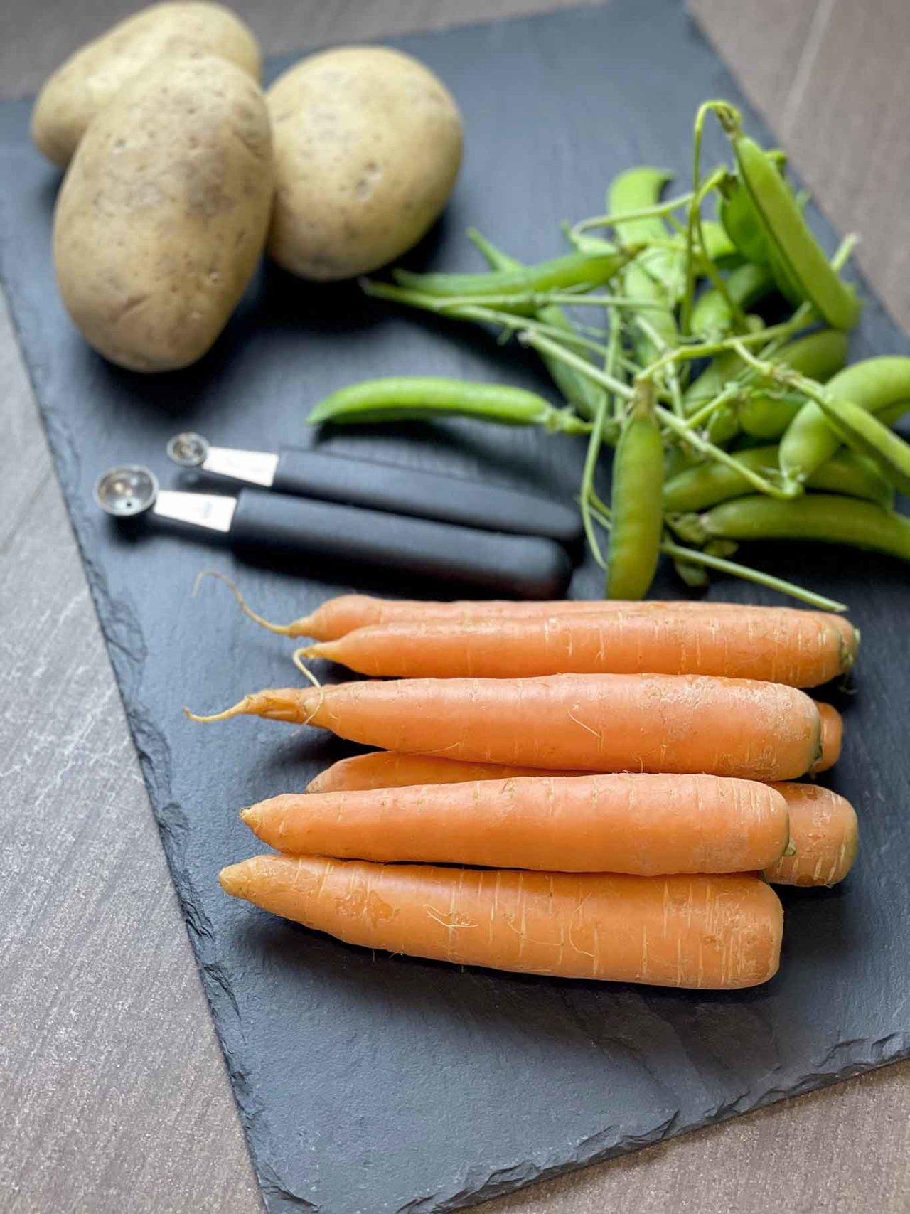 patate carote piselli