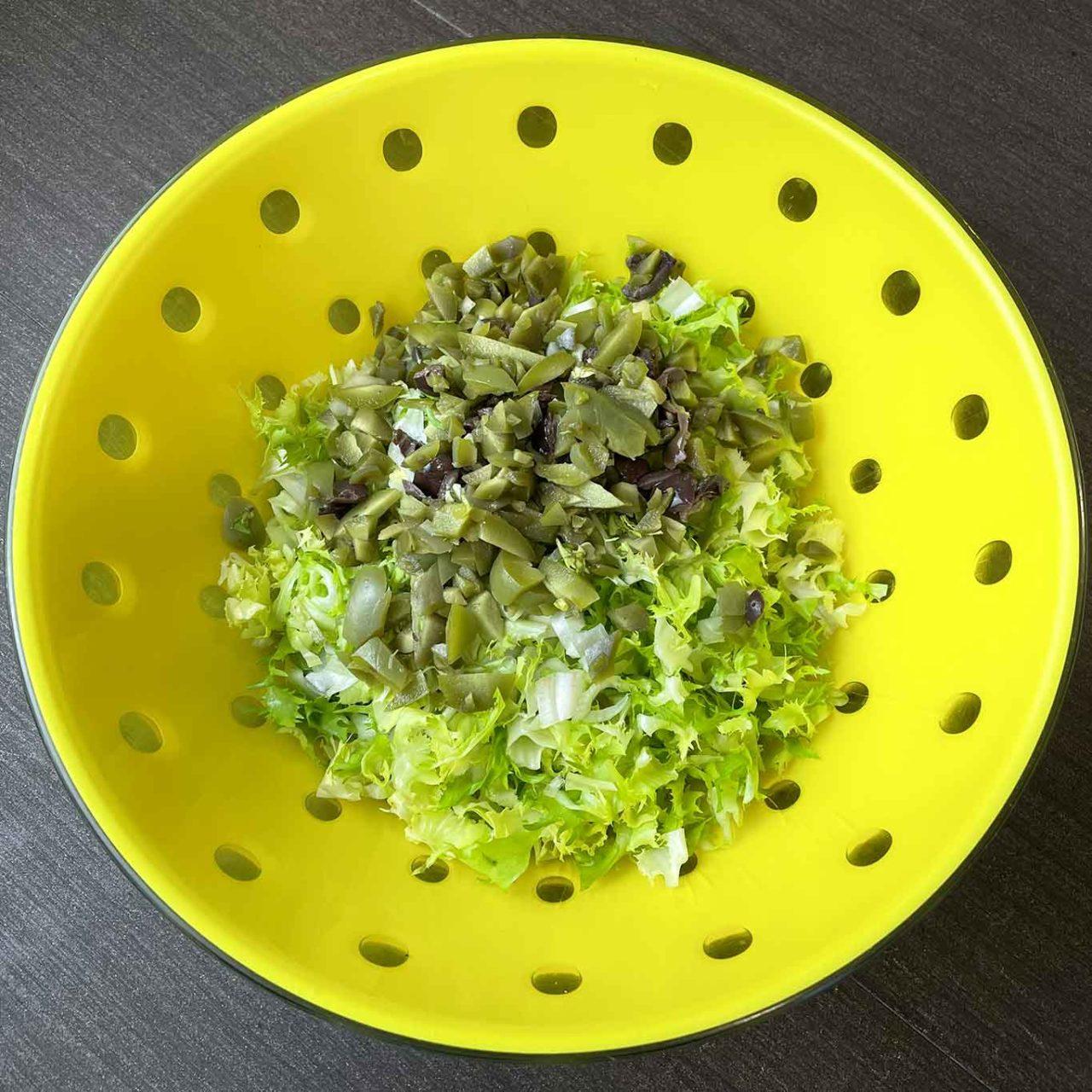 scarola riccia e olive