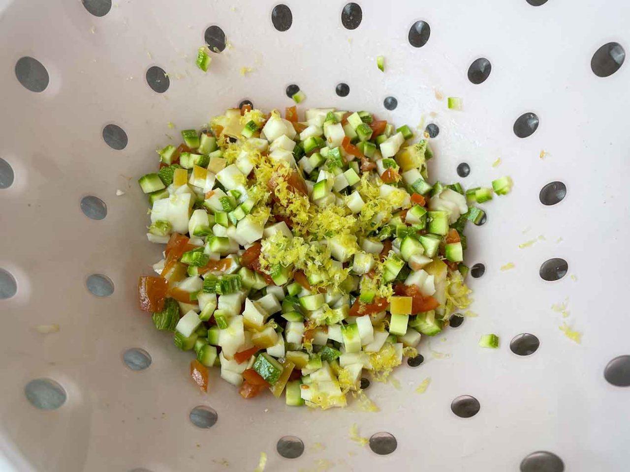 calamari ripieni zucchine provola pomodori limone