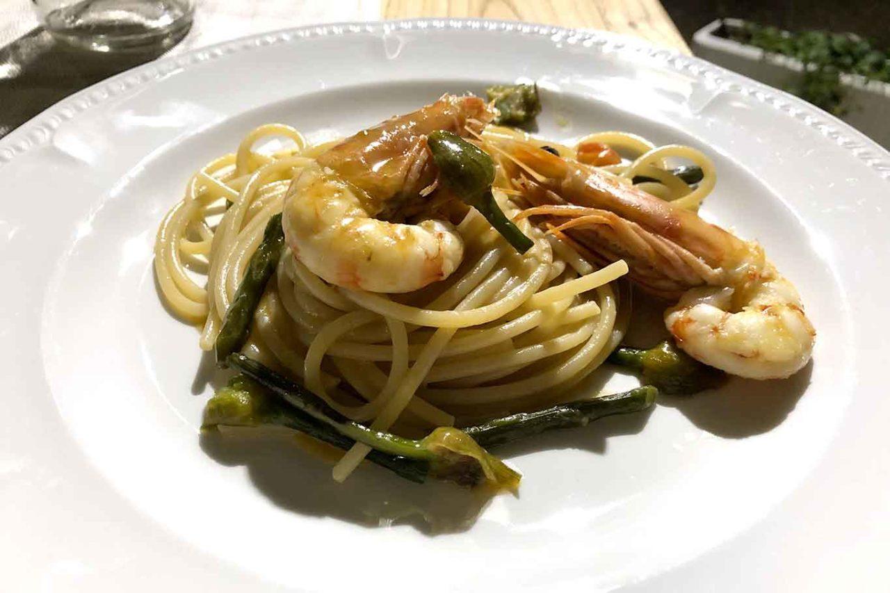 Osteria Nuova Anzio spaghettoni con mazzancolle