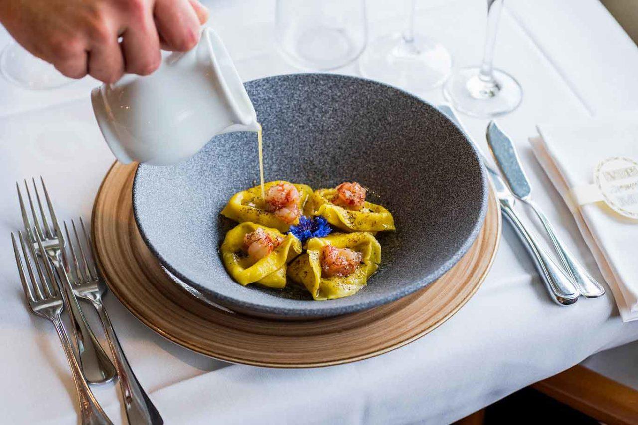 ristoranti mare Latina: tortelloni gamberi rossi Made in Italo