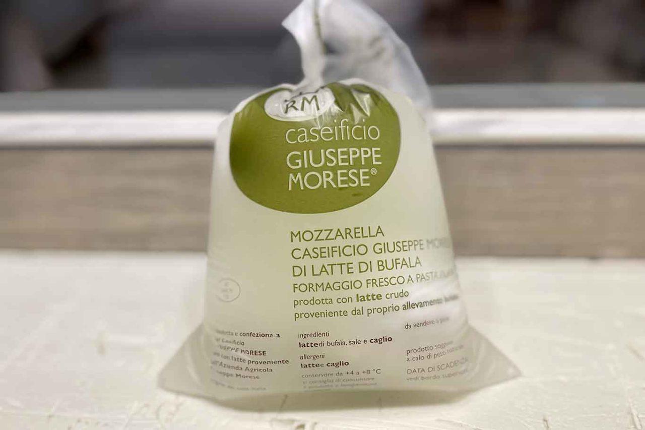 mozzarella latte di bufala caseificio Giuseppe Morese
