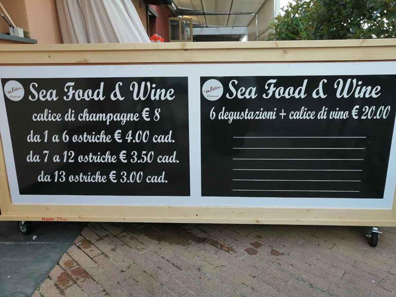 ristoranti sul mare in Liguria: da felice chiavari