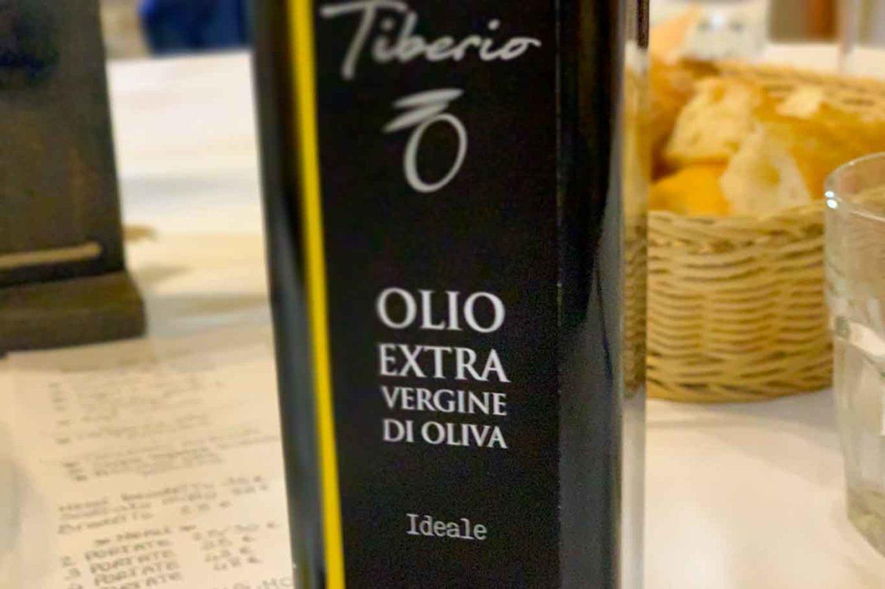 olio extravergine di oliva Tiberio
