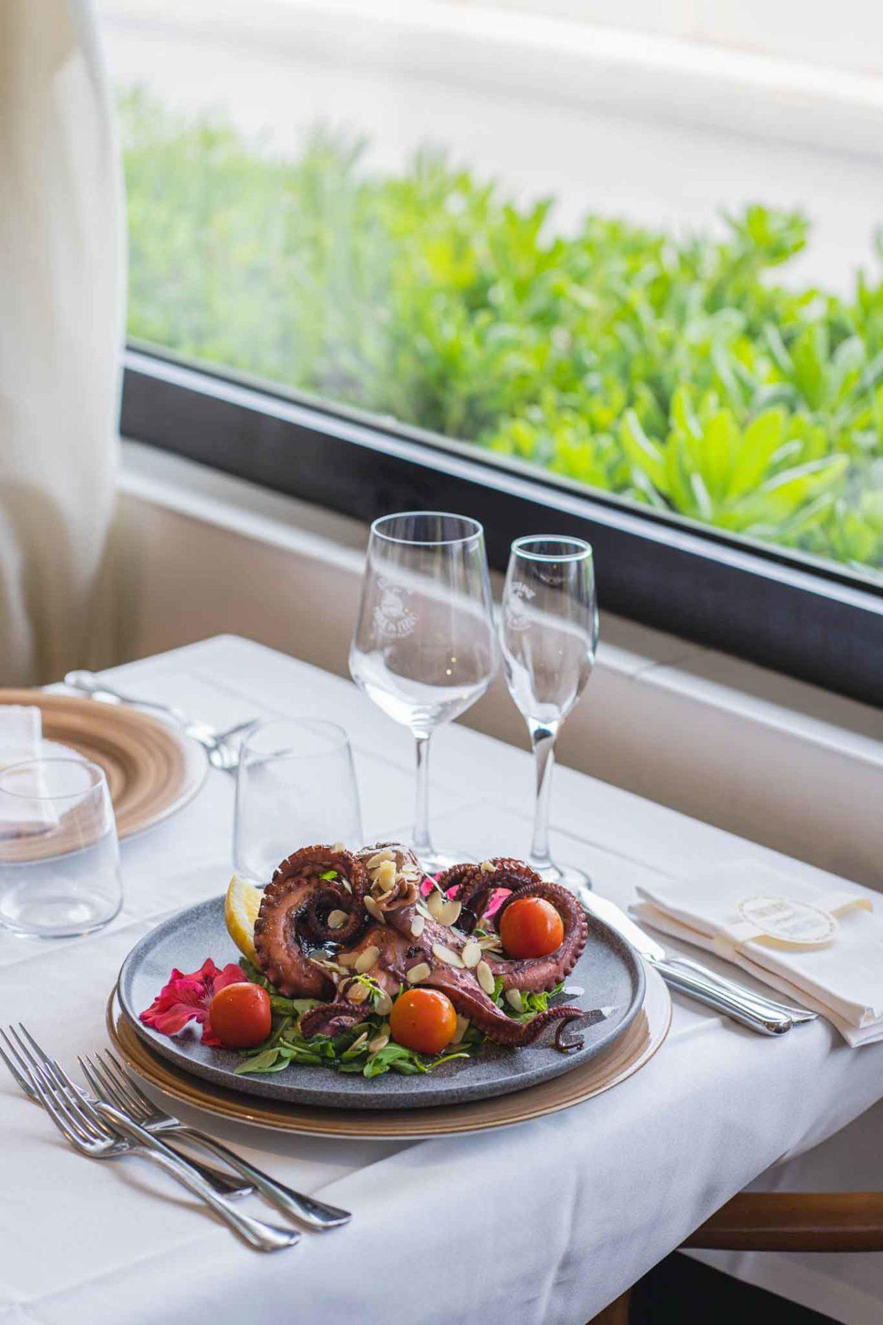 ristoranti mare Latina: polpo alla brace Made in Italo