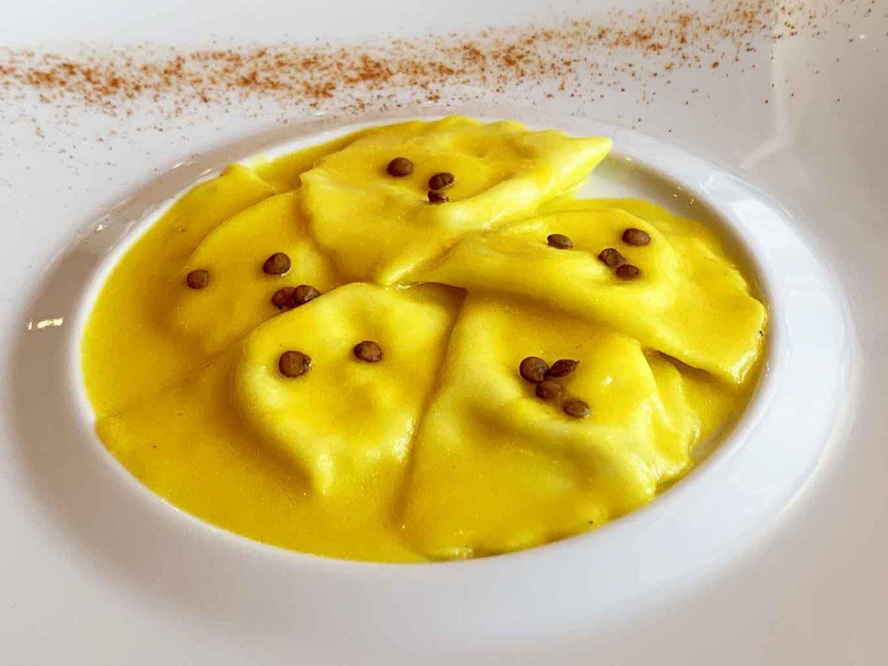 ristorante Villa Maiella Guardiagrele Abruzzo ravioli di burrata