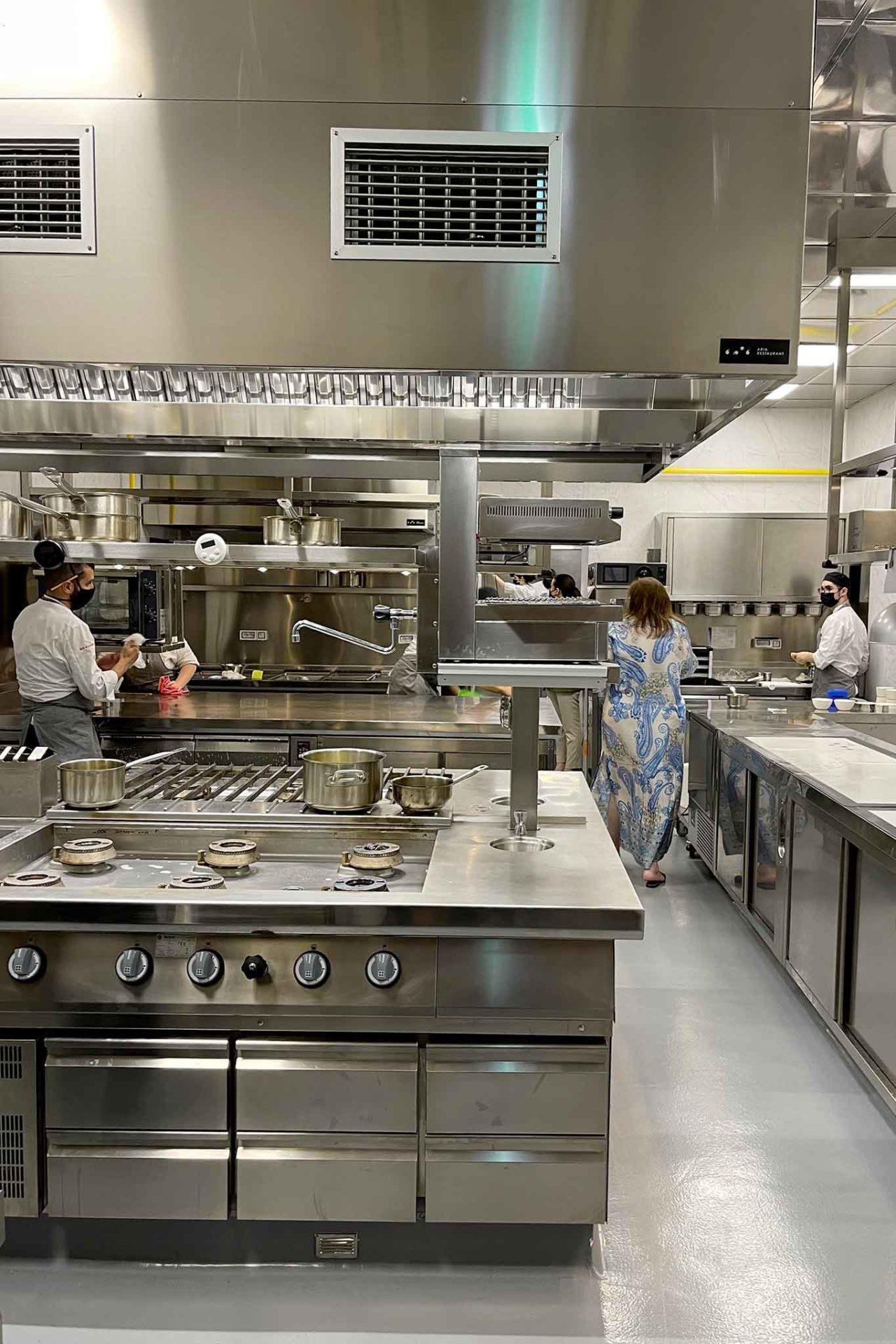 cucina ristorante Aria a Napoli