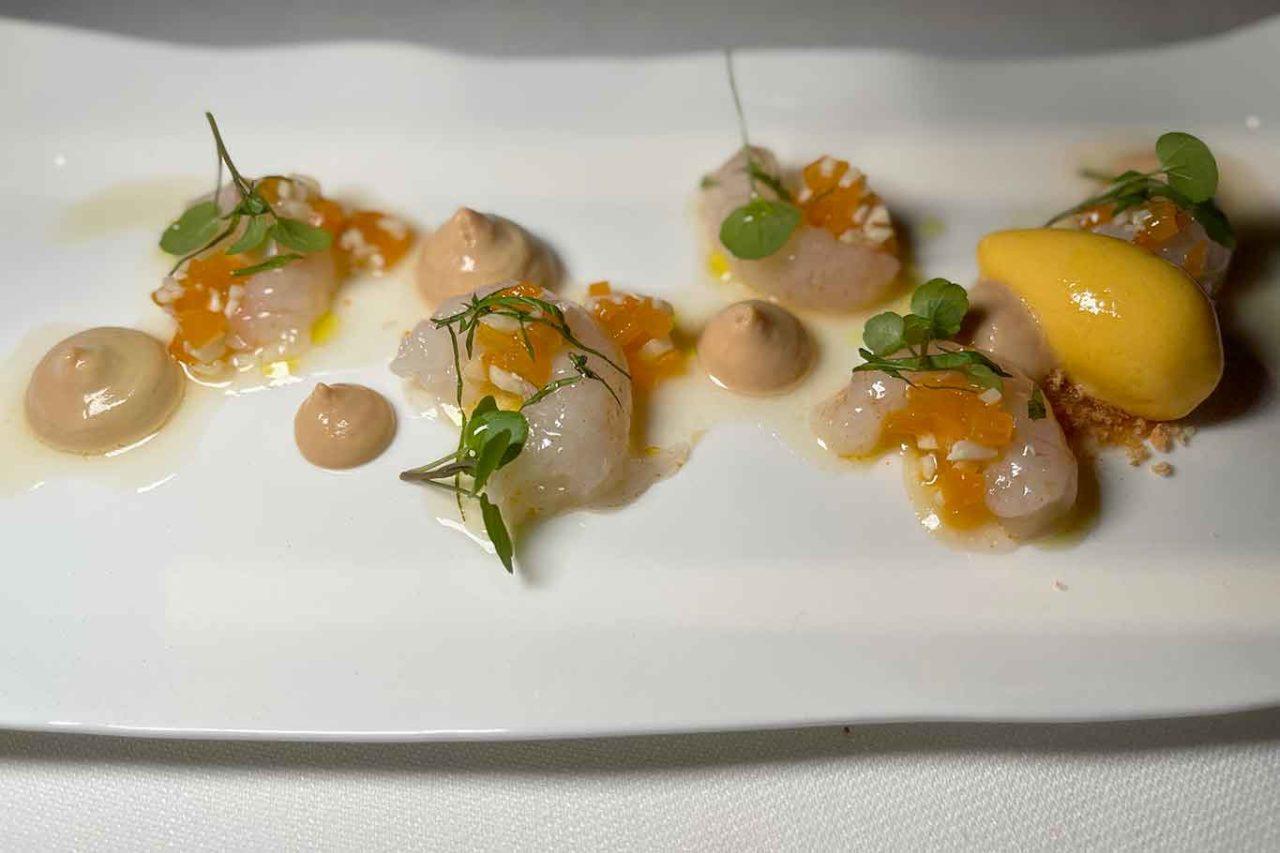 nuovo ristorante Aria Napoli scampi e foie gras